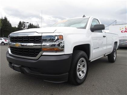 Pre-Owned 2017 Chevrolet Silverado 1500 REG CAB/CLOTH INTERIOR/ONLY 900 KM'S RWD Truck